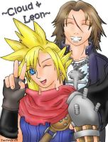 Cloud and Leon by taostrife