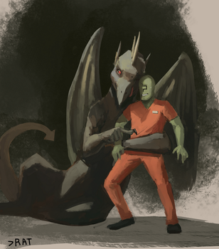 Inmate Anon and Dragon. by SergIole