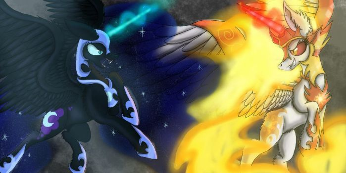 Nightmare Moon VS DayBreaker by FusionDash