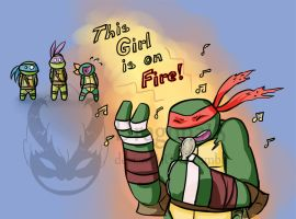 Tmnt Raph Is On Fire by Dragona15