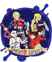 My super smash bros roster by CookuBanana