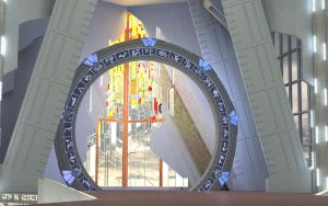 initial Superfly test render of Atlantis stargate by seachnasaigh