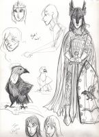 JSMN: character sketches 8 by Agatha-Macpie