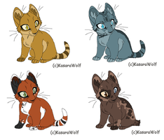 Warrior Kits Free Adoptables 1: CLOSED by LimeyGirl09