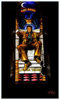The King Stained Glass Window by DleeKirby