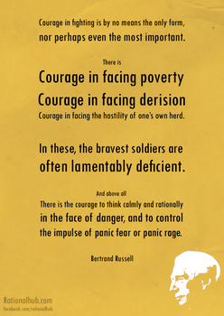 Bertrand Russell on Courage... by rationalhub