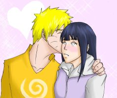 NaruHina commission HEART-ness by ihatecollege