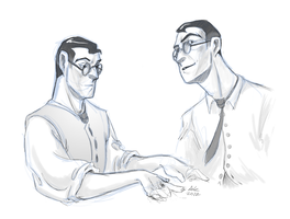 Medic sketches by PrecosiousChild