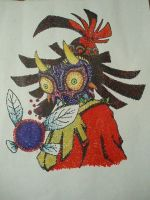 Skull Kid and Tael Pointillism by ALittleSeahorse