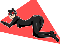 Catwoman Pin-up by PervyAngel