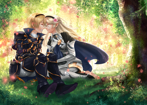 FE:F-Under the Sunlit Bower [HBD LEO!] by Nintendraw