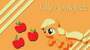Filly Applejack Wallpaper by Silentmatten