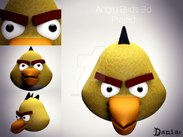 AngryBirds 3d Project  Yellow Bird by daniacdesign