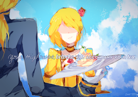 kagamine rin . servant of evil . vocaloid by che-rrry