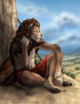 Lion at Rest by valentinecrow