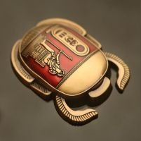 Egyptian Scarab Geocoin by cwaddell
