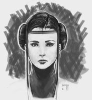 Padme-Sketch by Izene