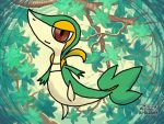 Snivy Pastel drawing by mgunnels3