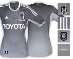 Besiktas JK Adidas Grey Kit-Shirts 2013 2014 by eaglelegend
