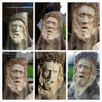 jesus hand carved wood sculpture by simon patel by simondrawme