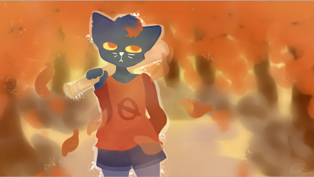 Night In The Woods Mae Painting by lacieXcloe