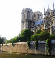 Notre Dame Viewed from the Seine River by ShipperTrish