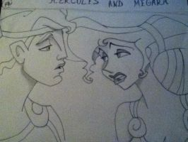 Another Hercules and Meg drawing by DisneyFreak010