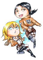 Commission: Ymir and Christa by ravenwing136