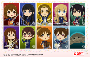 K-ON Chibis by shihfu
