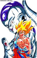 FREEZER Y GOKU SUPERSAIYAJIN (MARKER-COLOR) by MUERTITO69
