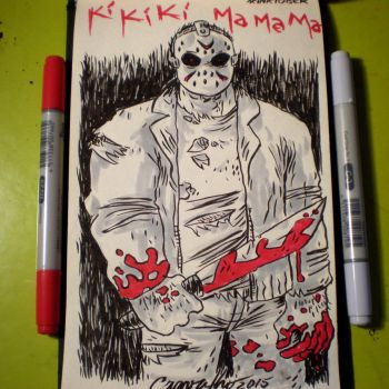 INKtober - Jason by Cosmic-Rocket-Man