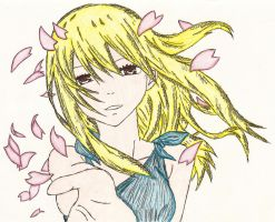 Lucy Heartfilia Inked + Coloured. by Layarlia