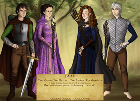 F.A.T.E Characters [RotBTD/The Big Four] by supereilonwypevensie