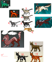 CLOSED 10pt leftover adopts by Chaotic--Edge