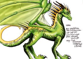 Mr. Dragon is Green and Gold by harimauputeh