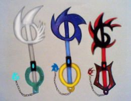 SSS keyblades by GothNebula
