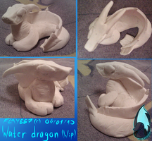 Water dragon figurine(WIP) by WingedWilly