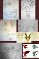 Firelight Sketches by MissRiverstyxx