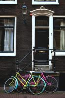 Amsterdam  - Fluorescent bikes by Tetelle-passion