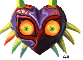 Majora's Mask [Paint practice] by Reverrii