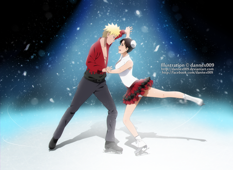 Commission - Figure Skating Duo by dannex009