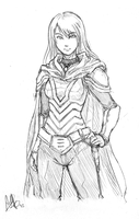 VictoriaInArmor sketch by MeganeRid by RBL-M1A2Tanker