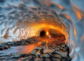 Beautiful Cavern of Ice in Russia by natiy200