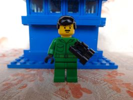 Custom Made Brigadier Lethbridge-Stewart Lego by PCamenzind