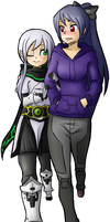 Mea and Mel Commission by nozomi-sama
