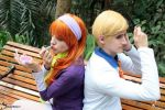 Daphne Blake and Fred Jones by BabiSparrow