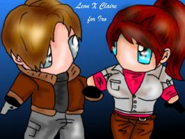 Leon n Claire for IRO by FallenCryingDevil