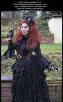 Crazy Woman in Black Stock 003 by MADmoiselleMeliStock