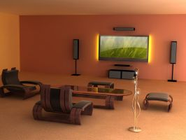 Living Room by paskoff