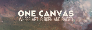 One Canvas Banner by Crazed-Artist